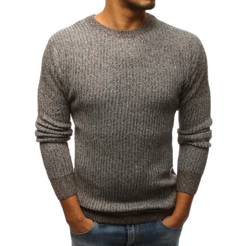 Férfi barna pulóvert STYLE