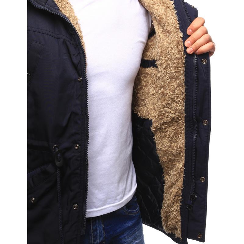 df955622fd Férfi téli kabát sötétkék télikabát   manCLOTHES.hu
