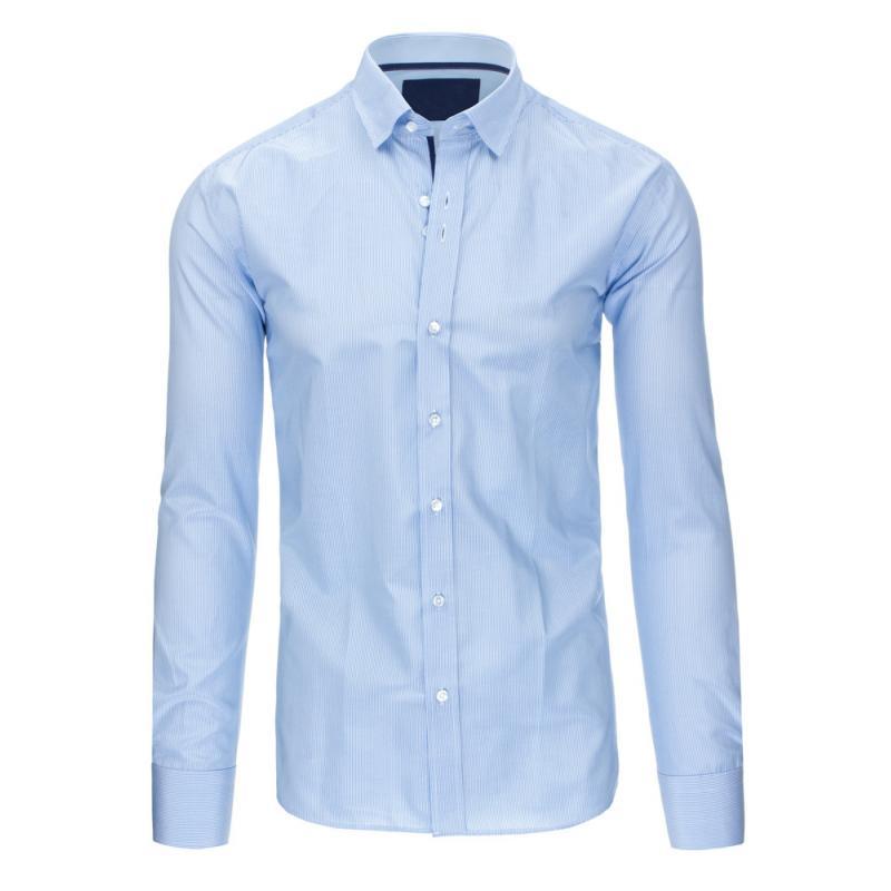 2fe59b1c4e Kék csíkos férfi ing, hosszú ujjú vékony fit   manCLOTHES.hu