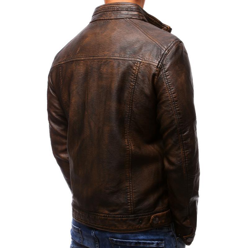 4c8ccae277 Férfi kabát műbőr barna | manCLOTHES.hu