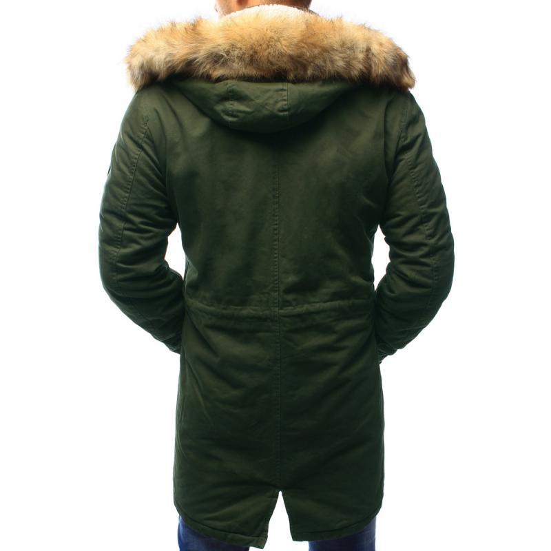 Férfi téli kabát télikabát zöld  eab4fe11cd