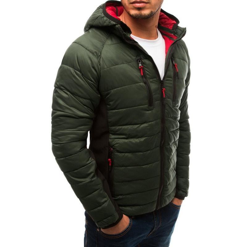 Férfi steppelt dzseki, zöld