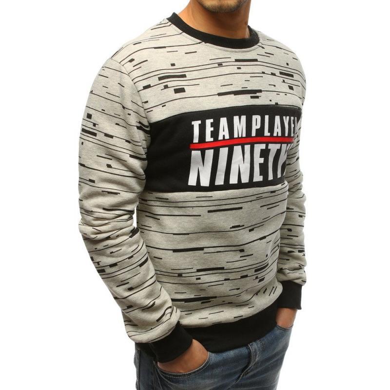 NewStyle Férfi pulóver ellátva világosszürke