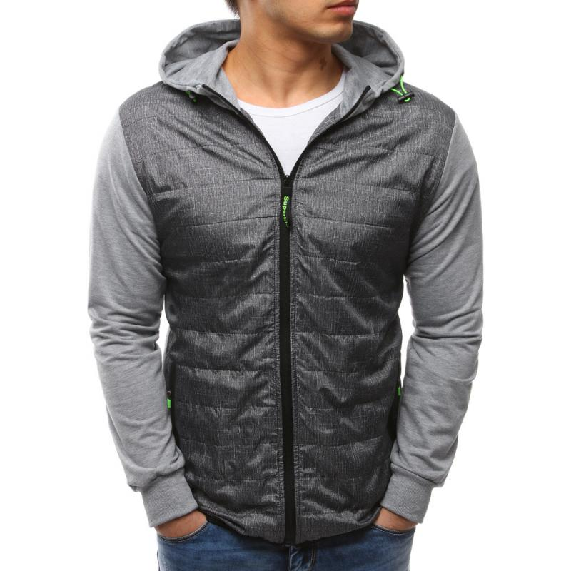 3b968b1458 Modern férfi kabát kapucnival, szürke | manCLOTHES.hu