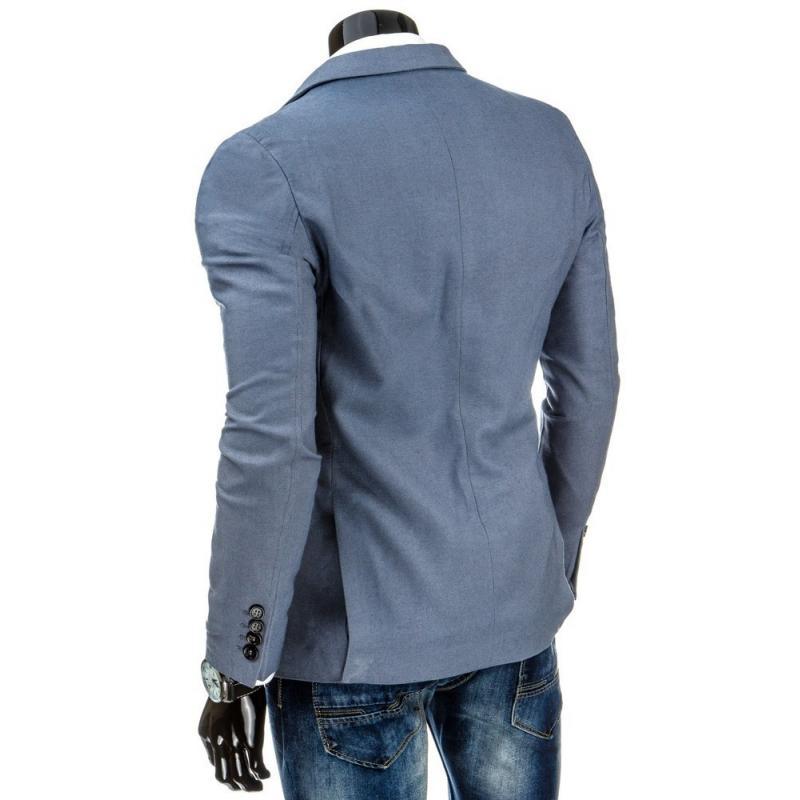 Elegáns Férfi kényelmes kabát kék  17f6709be6