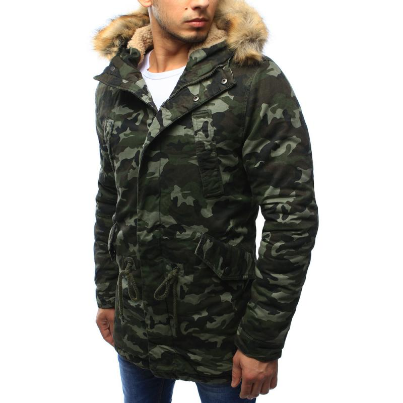 Férfi álcázás télikabát kabát téli erdei terepmintás  bb477e7ccc