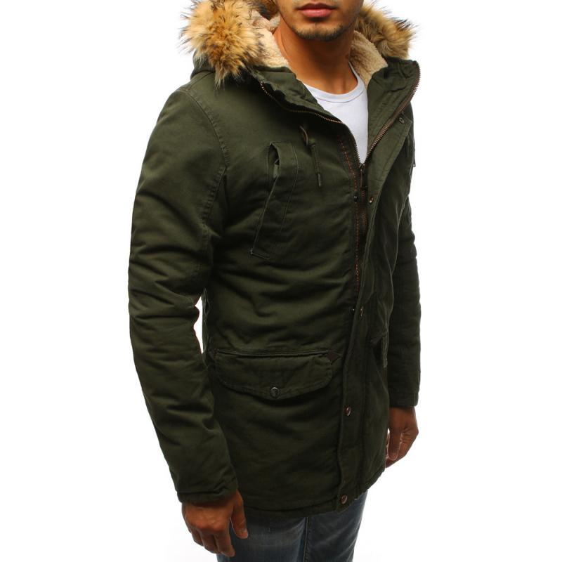 Férfi téli park zöld kabát  a2cf462289