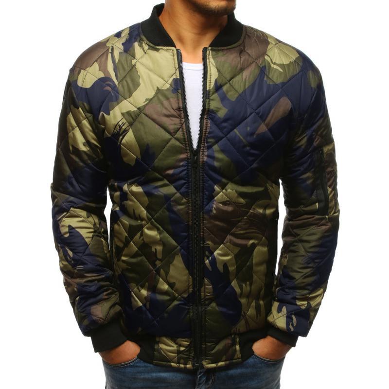 2509c2b0a8 Stílusú férfi terepszínű kabát steppelt kabát bomber erdei terepmintás