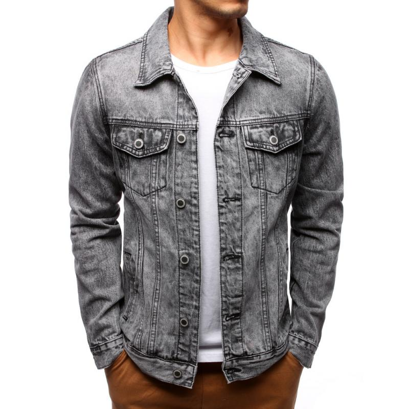 c31e1da90c Férfi divatos farmer kabát, szürke | manCLOTHES.hu