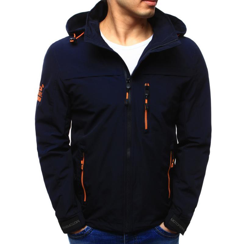 bd36c76357 Férfi kabát átmeneti kapucnis sötétkék | manCLOTHES.hu
