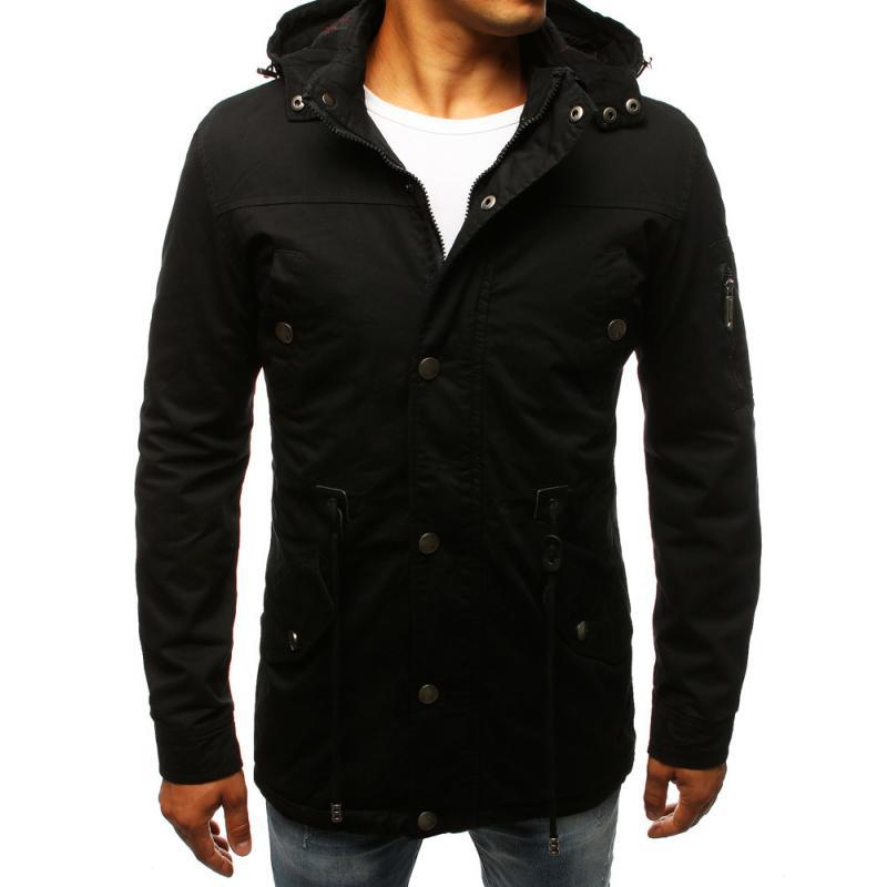 Férfi stílusú fekete télikabát kabát átmeneti  ff4663c97a