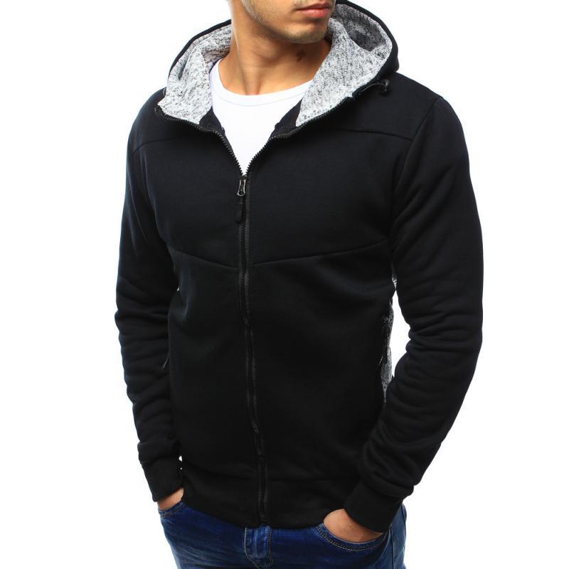 Unzipping fekete pulóver kapucnival  b1f0b55005