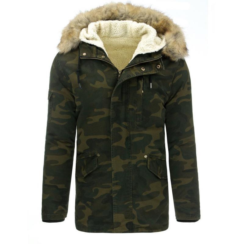Férfi télikabát (téli kabát) - terepszínű  d4ef6f6221