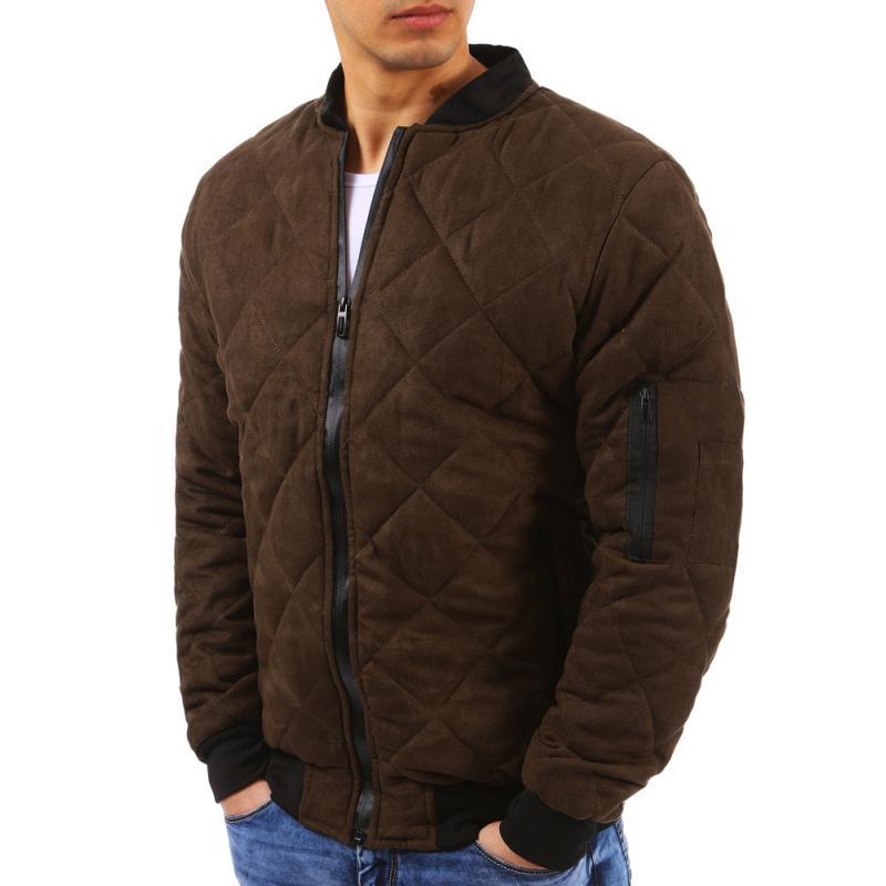 barna férfi steppelt dzseki