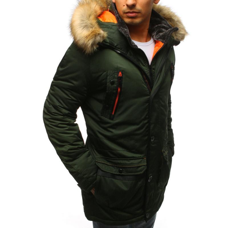 Férfi téli kabát zöld  abe78a4e18