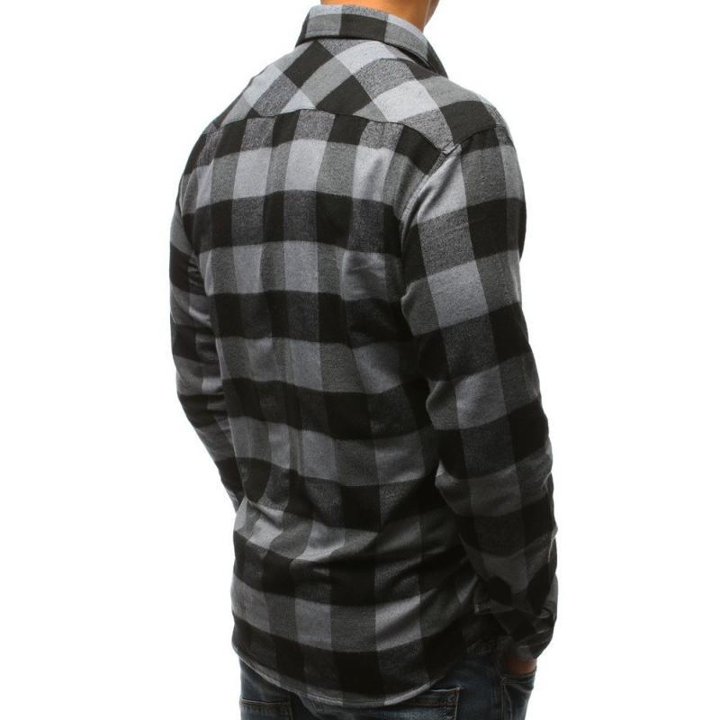 Férfi póló stílus csíkos szürke-fekete  275ffbd331