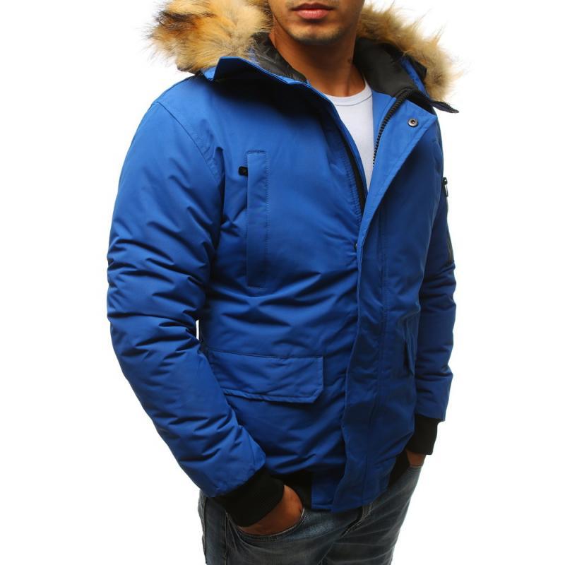 Férfi téli kabát, kék | manCLOTHES.hu