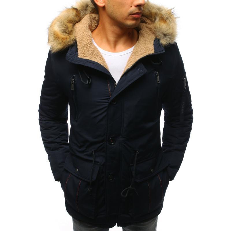 Férfi téli sötétkék kabát  b330b97409