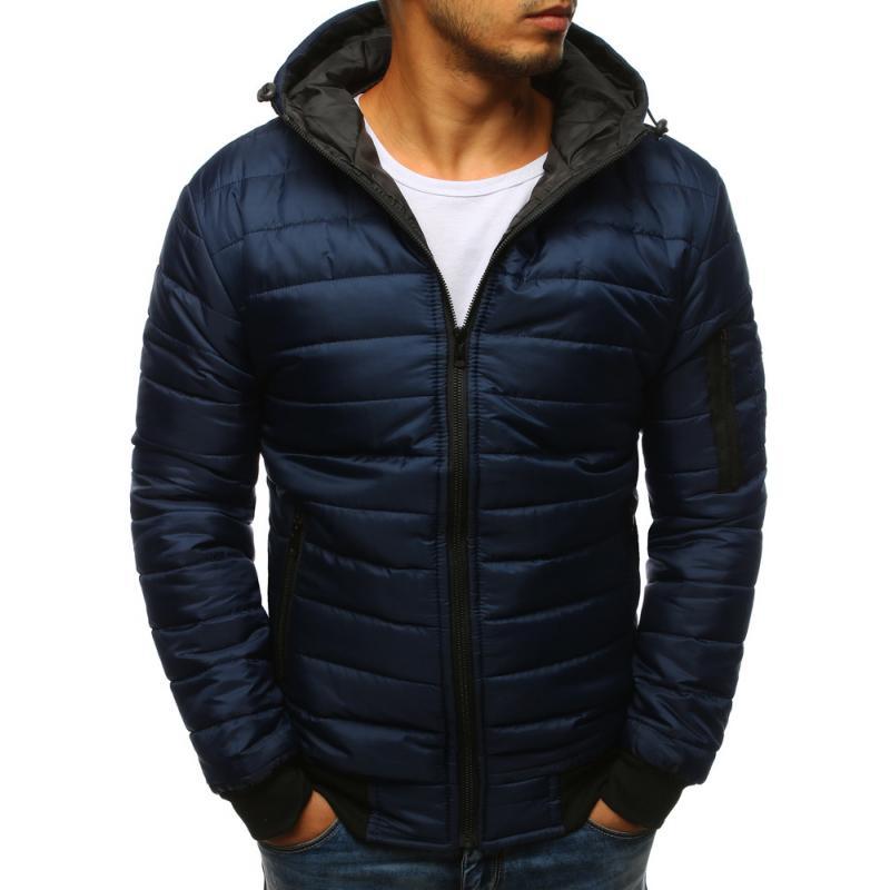 STYLE férfi dzseki, steppelt kabát bomber kék | manCLOTHES.hu