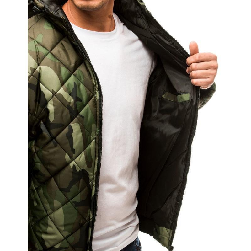 TAVASZI Férfi steppelt kabát átmeneti terepszínű álcázás