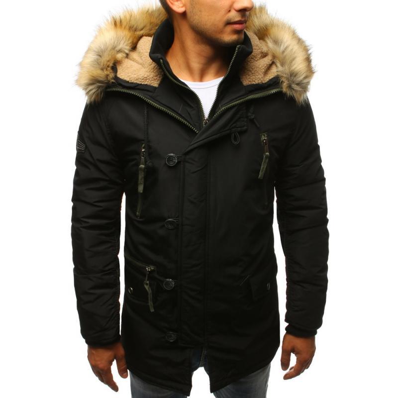 ebb32dd096 Férfi téli kabát fekete zakó | manCLOTHES.hu