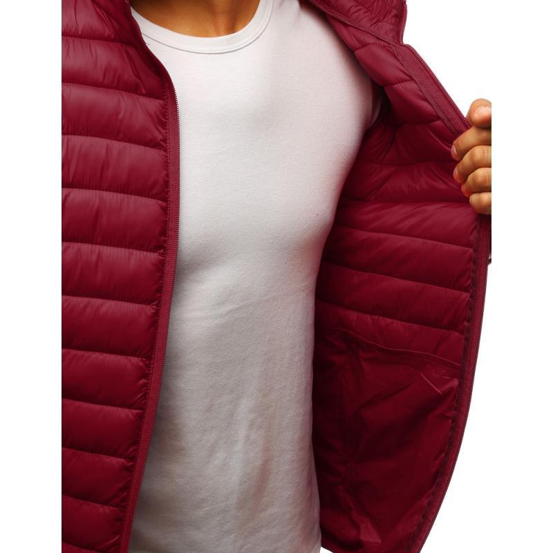 Stílusú férfi steppelt kabát bordó | manCLOTHES.hu