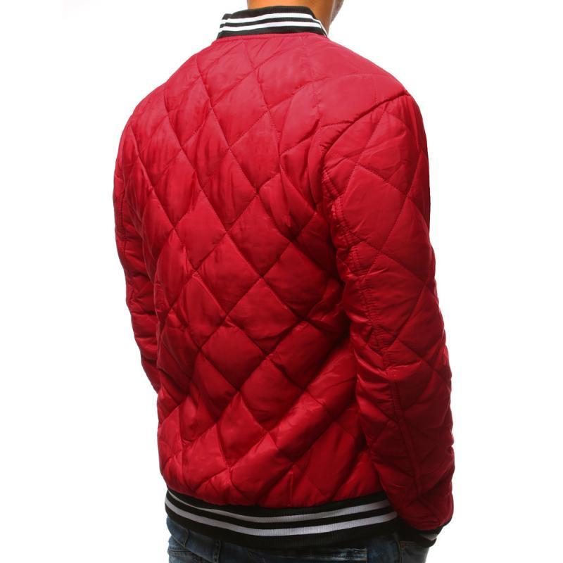Férfi Style steppelt kabát bomber dzseki piros  c7575925b7