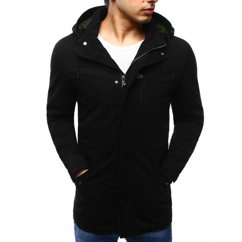 5def53c614 Férfi kabát átmeneti télikabát fekete   manCLOTHES.hu