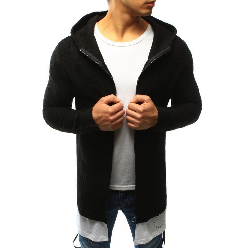 105e16ba9a Férfi pulóver kapucnis fekete unzipping | manCLOTHES.hu
