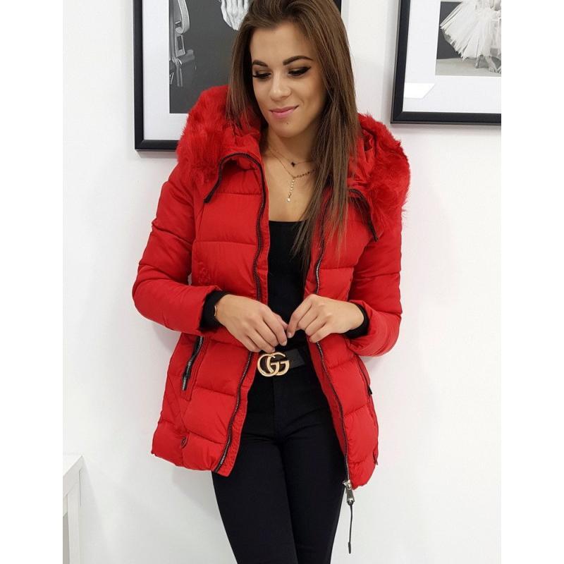 Női téli kabát steppelt piros Naomi | manCLOTHES.hu
