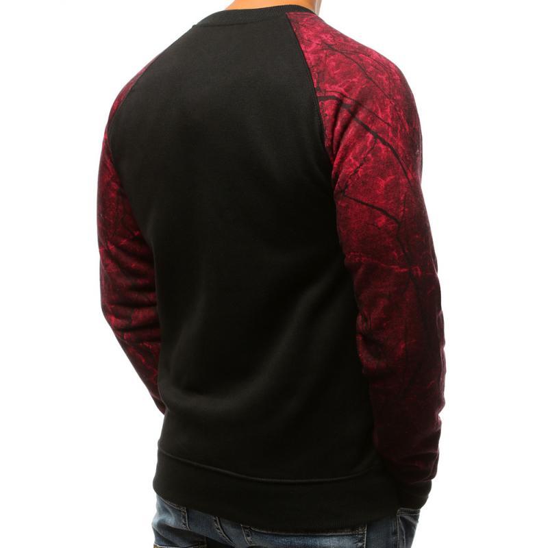 0c5b82114c Férfi Style pulóver nyomtatott fekete-piros | manCLOTHES.hu