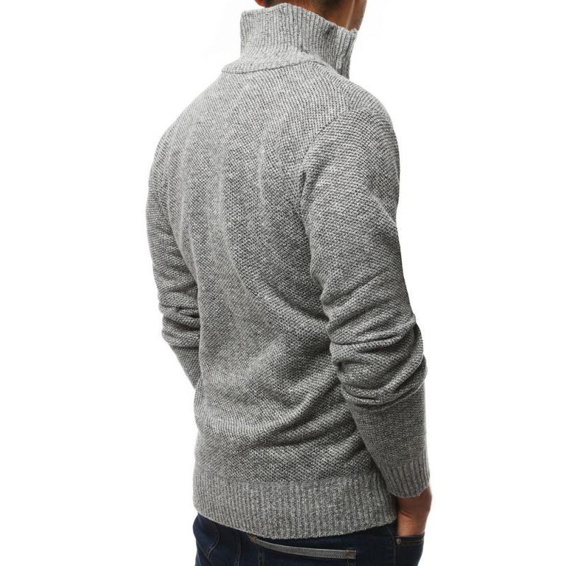 Unzipping meleg férfi pulóver világosszürke | manCLOTHES.hu