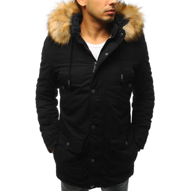 f637860a08 Férfi téli kabát télikabát fekete | manCLOTHES.hu
