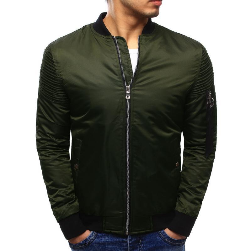 Férfi elegáns kabát bomber dzseki zöld | manCLOTHES.hu