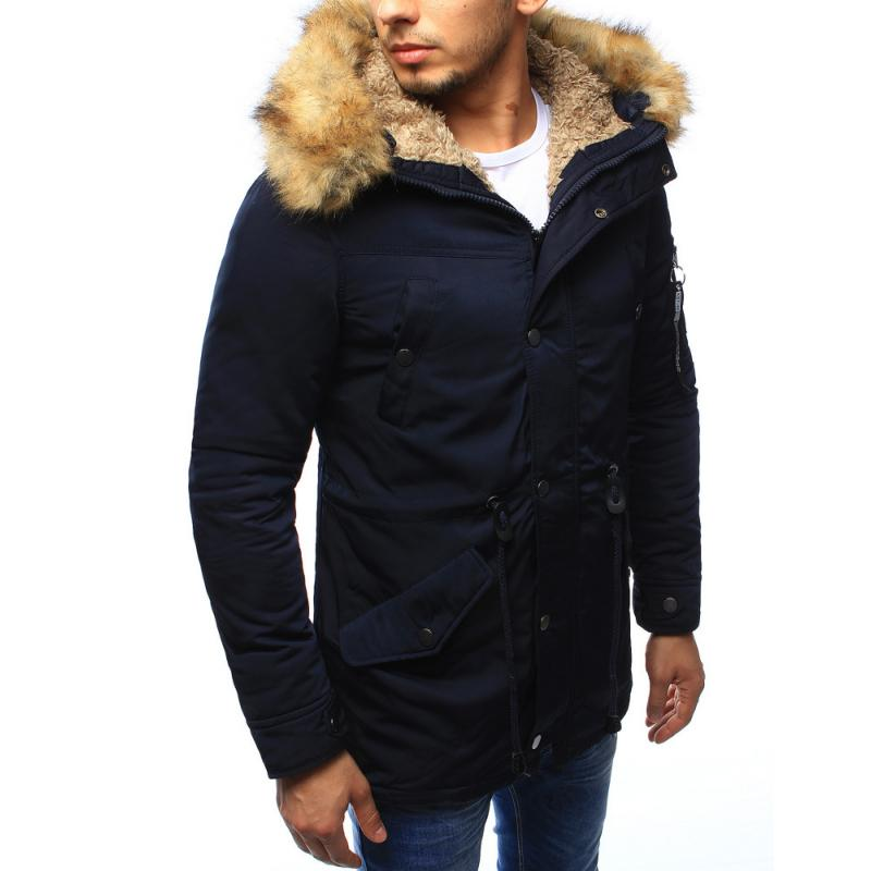 794b066ab2 Férfi téli kabát sötétkék télikabát | manCLOTHES.hu