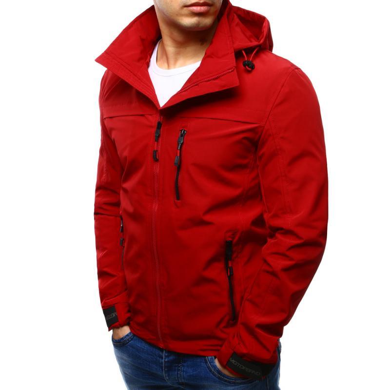 f9d6b1f25d Férfi átmeneti kabát kapucnival, piros | manCLOTHES.hu