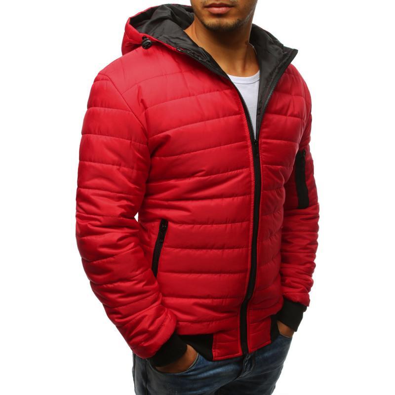STYLE férfi dzseki, steppelt kabát bomber bordó | manCLOTHES.hu