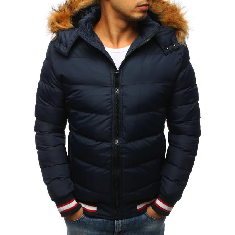 fa19e62d256c Férfi tapadós kék téli kabát | manCLOTHES.hu
