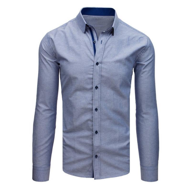 638e31fefa Férfi elegáns ing, sötét kék mintás | manCLOTHES.hu