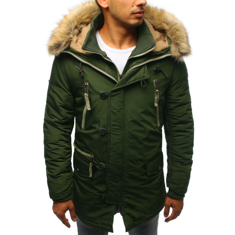 Férfi téli kabát sötétzöld  2b8c5fa78c
