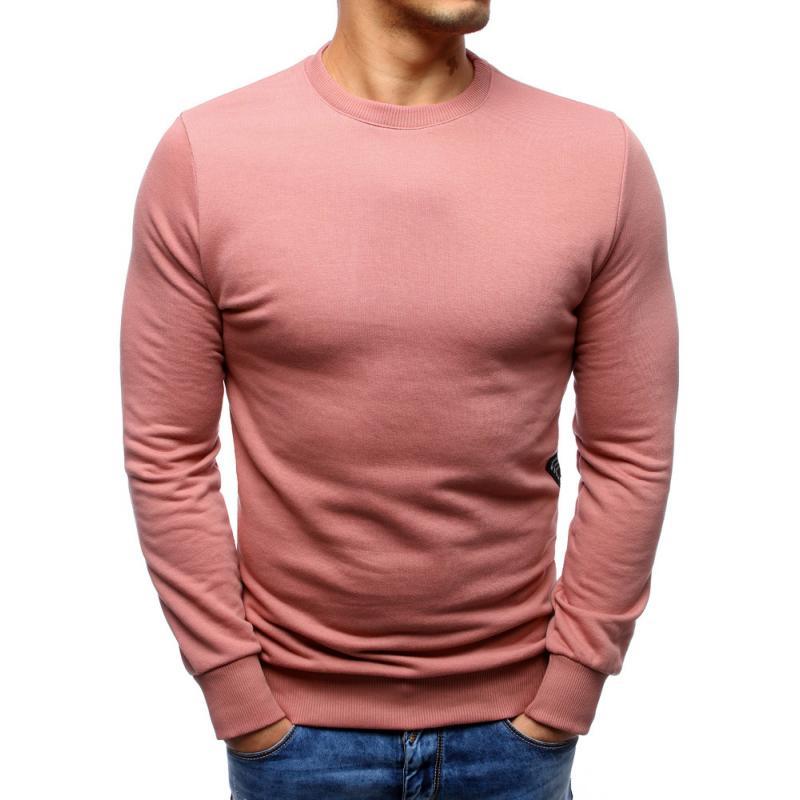 Férfi elegáns rózsaszín pulóver nyomtatás nélkül  07756648f9