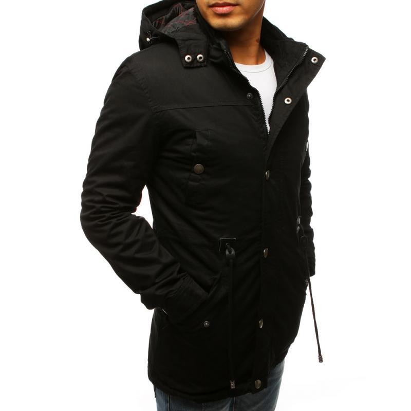Férfi stílusú fekete télikabát kabát átmeneti  6754b499ae