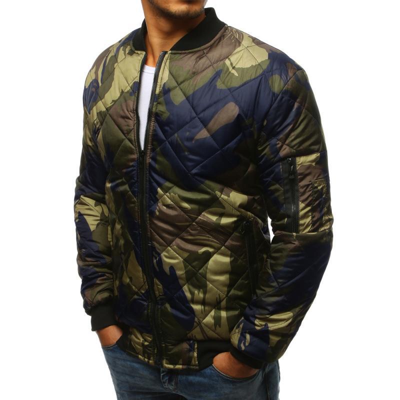 Stílusú férfi terepszínű kabát steppelt kabát bomber erdei terepmintás f8af703d73