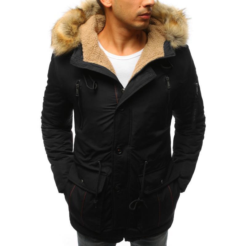 da5c529c5c Férfi téli kabát fekete | manCLOTHES.hu