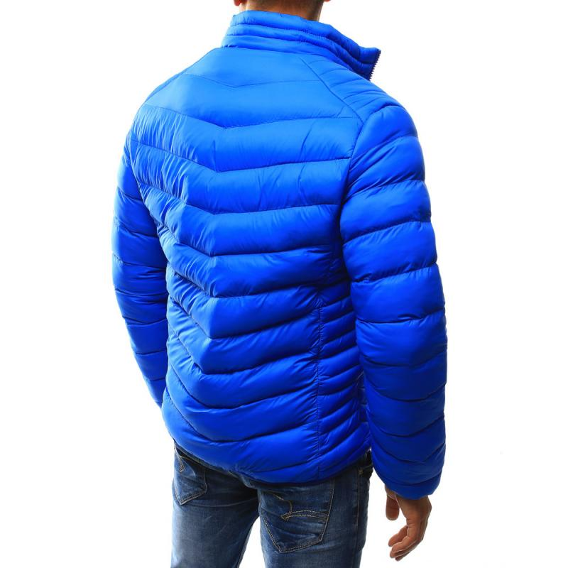 Férfi kabát steppelt világoskék  14ef45ee22