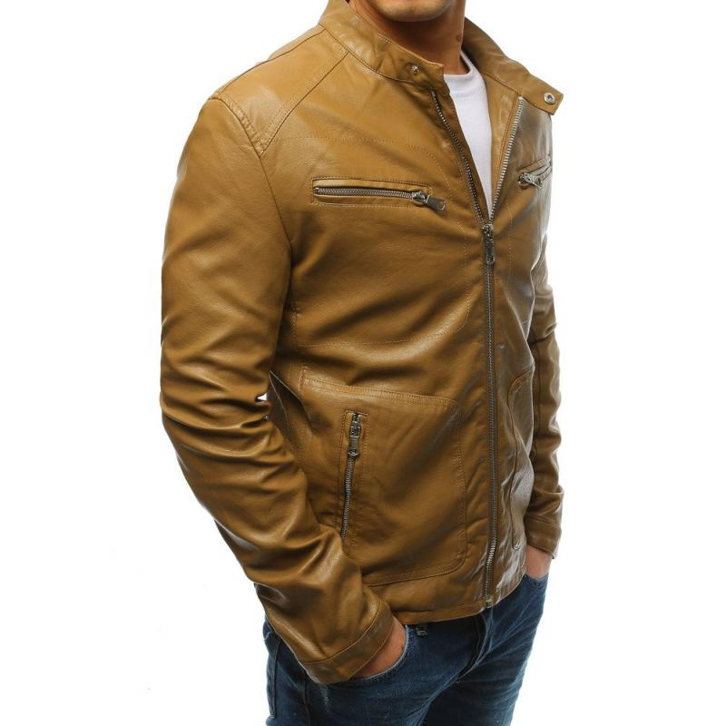 Férfi barna dzseki műbőr