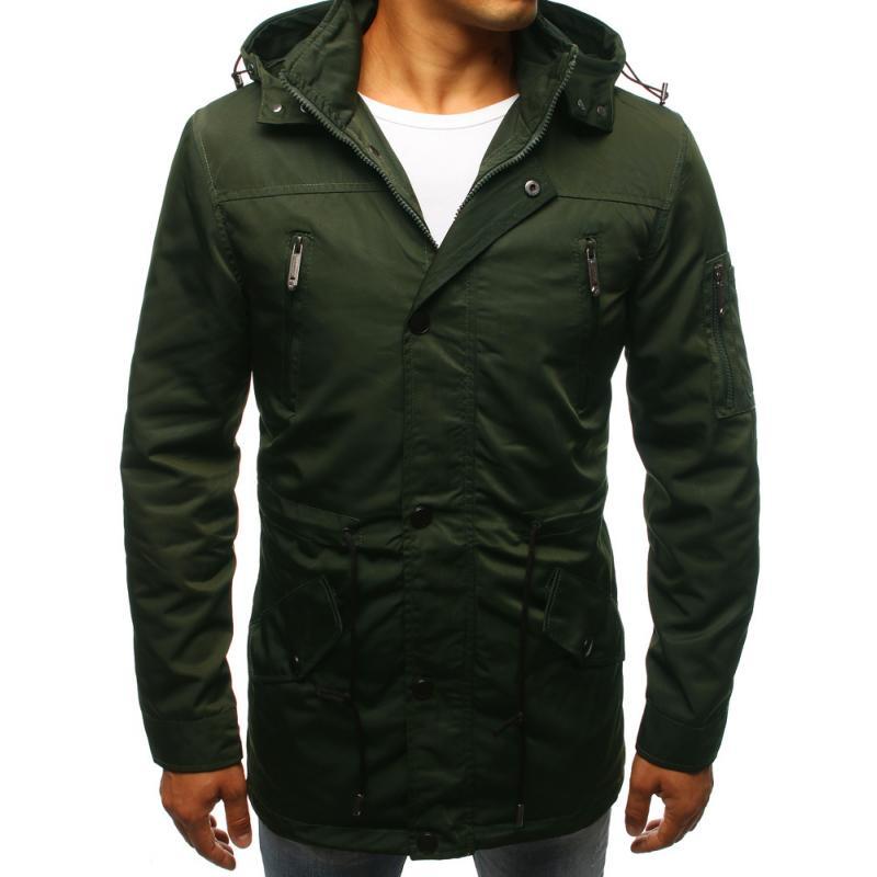 STYLE férfi dzseki télikabát zöld átmenet  dbc952538e