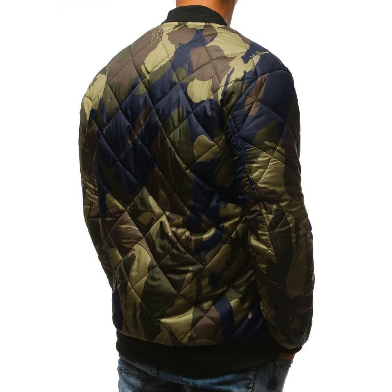 Stílusú férfi terepszínű kabát steppelt kabát bomber erdei terepmintás 0b866344b0
