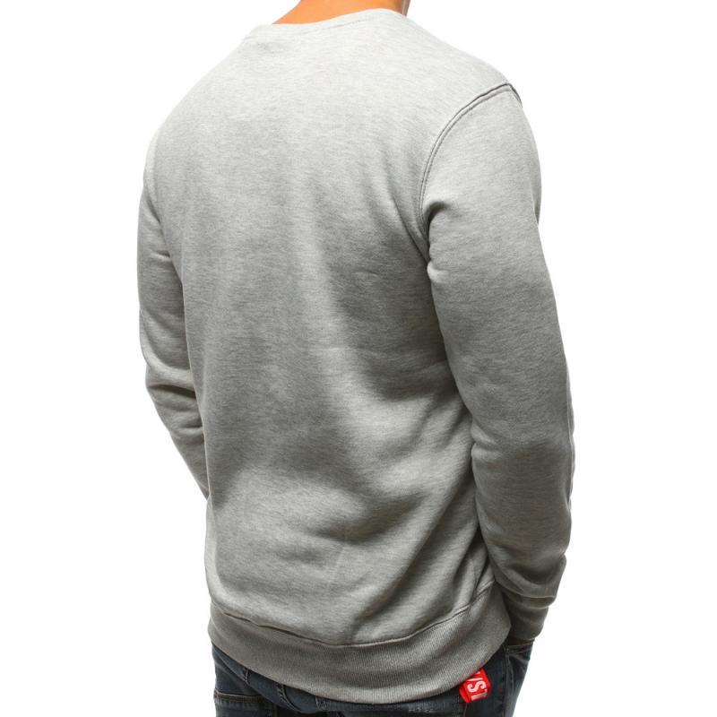 Elegáns férfi pulóver szürke nyomtatási  797d97e2e7