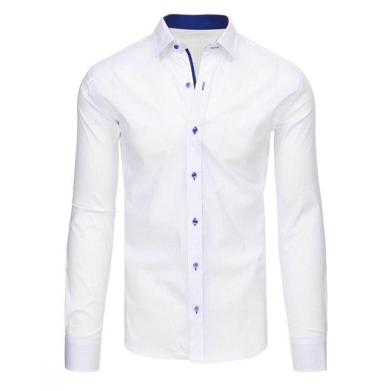 dd782e3d38 Fehér férfi ing, hosszú ujjú mintás | manCLOTHES.hu